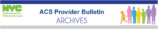 ACS Provider Bulletin Archive