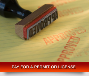 Pay for a Permit or License