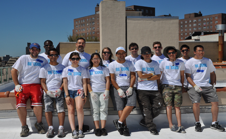 On July 14, 20 Interns Helped Cool NYC By Coating Two Rooftops In The Bronx