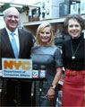 (l to r) DCA Commissioner Mintz, J & R Chief Executive Officer Rachelle Friedman, and Alliance for Downtown New York President Elizabeth H. Berger