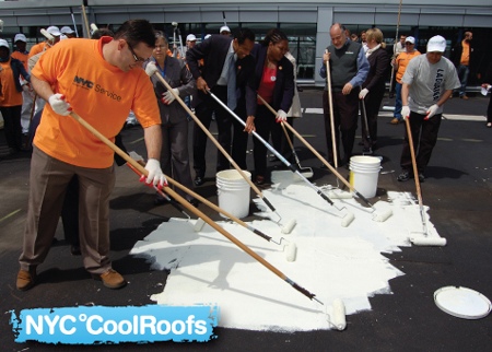 Buildings Commissioner LiMandri Cools A Roof In Long Island City.