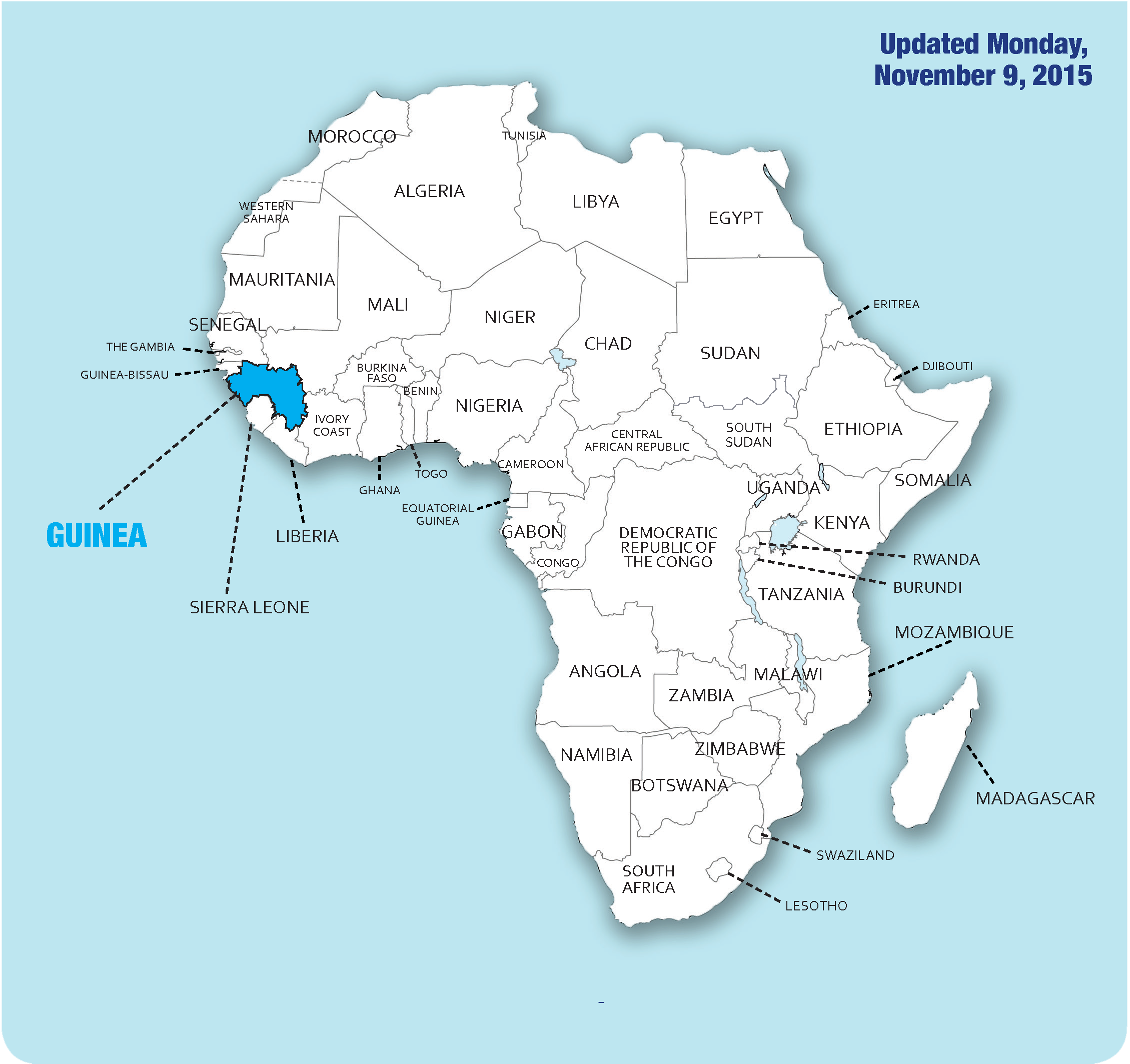 africa map of ebola outbreak 2018