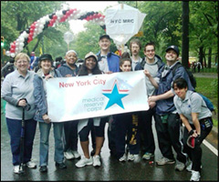 mrc members at an AIDS walk