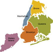 five boroughs of nyc