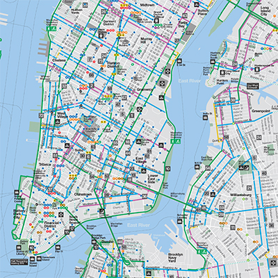 Bike Nyc 2015 nyc bike map