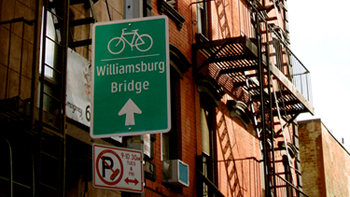 Williamsburg Bridge Sign. Photo by Sheryl Imperati