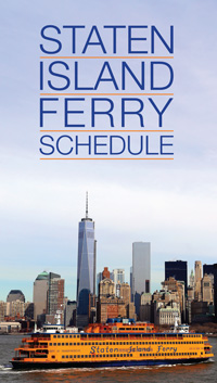 Photo of Staten Island Ferry Schedule Brochure Cover