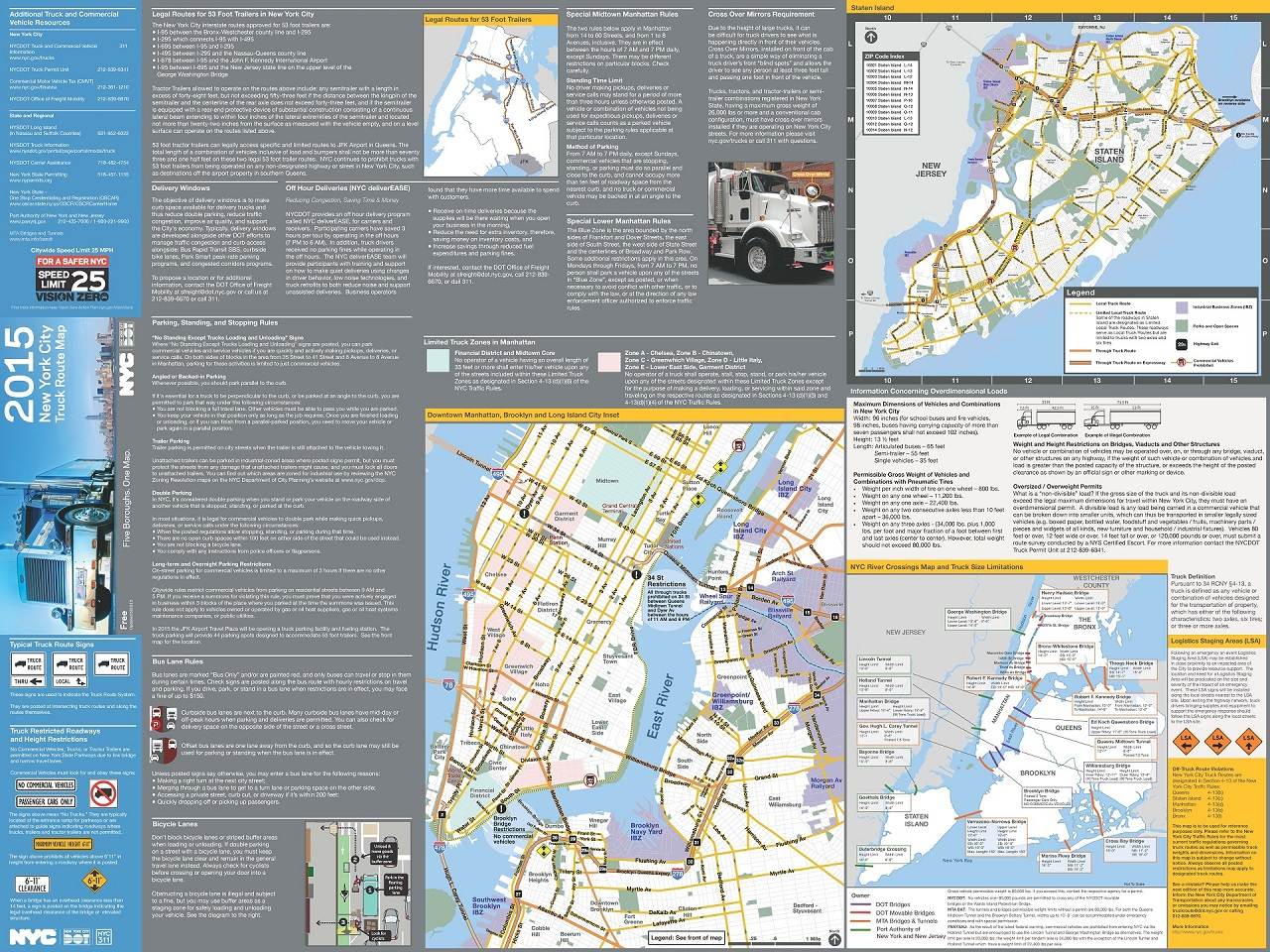 NYC DOT Trucks And Commercial Vehicles - Us highway map with speed limits