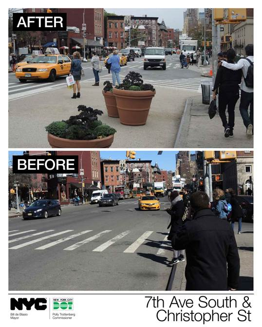 Nyc Dot Press Releases Nyc Dot Unveils New Pedestrian