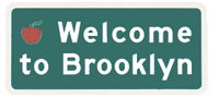 "10C - Welcome to Brooklyn (or any borough) sign 30"" x 18"": $64"