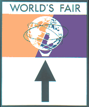 "7A - 1964 World's Fair Directional reproduction 24"" x 36"": $102"
