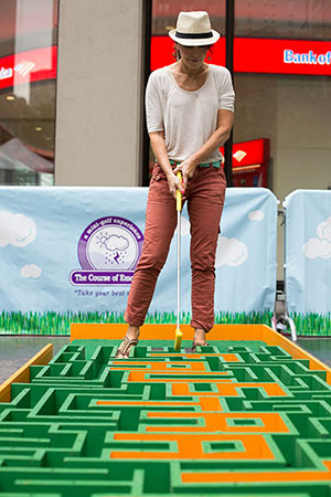 Course of Emotions: A mini-golf Experience by Risa Puno. Summer Streets 2014.