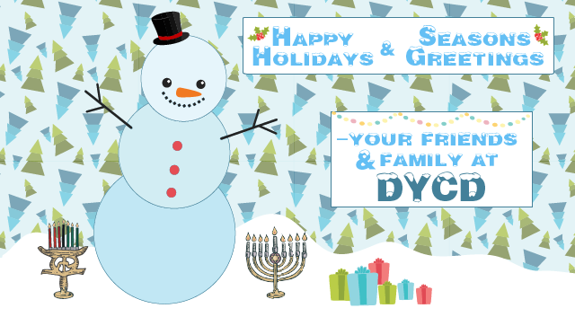 happy holidays from DYCD