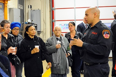 Members of the FDNY's Fire Safety Education Unit spoke to numerous people about how to stay fire safe