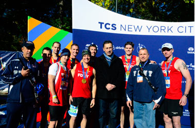 Fire Commissioner Daniel Nigro cheered on the FDNY members competing in the Mayor's Cup.