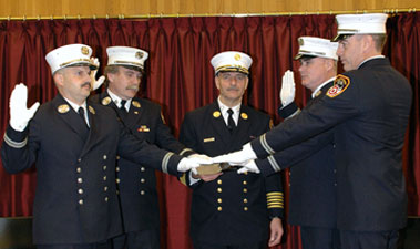 Fire Promotions Ceremony