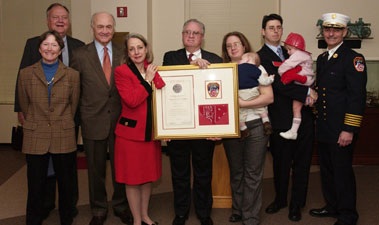 "Welles Crowther ""The Man in the Red Bandanna"" Posthumously Named Honorary Firefighter"
