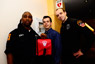 MT Peter Johnson, Assistant Medical Director Dr. Paul Barbara and Paramedic Shane Brady saved the life of a man in cardiac arrest at FDNY Headquarters.
