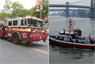 Ladder 15 and Marine 1 Rescue Two in Manhattan