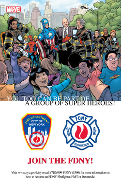 Back covers of the FDNY/Marvel comic book unveiled
