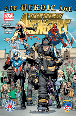 front covers of the FDNY/Marvel comic book unveiled