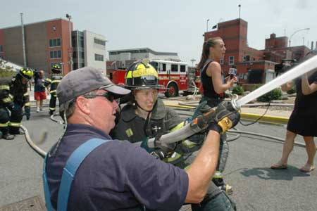 Media Day at the Fire Academy
