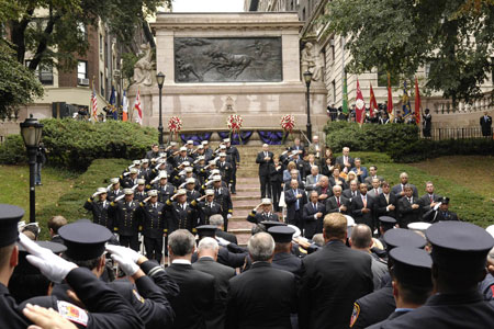 The FDNY celebrates Memorial Day on October 10, honoring the 10 active members who have died in the last year.