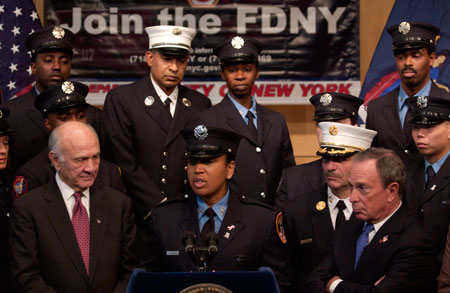 Firefighter Regina Wilson, a member of the FDNY's Recruitment and Diversity Unit, discusses her experiences as one of New York's Bravest.