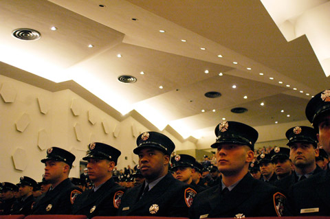 The proby class included 46 who are following in a family member's footsteps by becoming a firefighter.