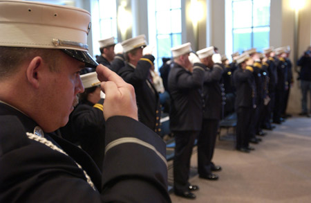 26 fire and EMS members were promoted in a ceremony on February 11.