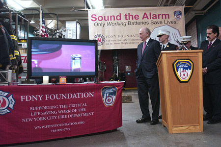 "The FDNY unveils the new ""Sound the Alarm"" fire safety commercial, which educates New Yorkers about the importance of working smoke alarms."