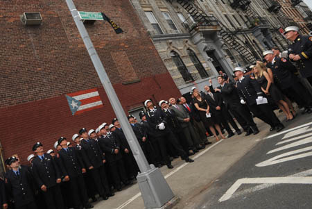 The corner of Richardson Street and Leonard Street in Brooklyn is renamed Firefighter Daniel F. Pujdak Street in honor of the Firefighter who died on June 21, 2007.