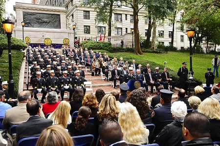 More than 8,000 members attended the FDNY�s annual Memorial Day ceremony in upper Manhattan.