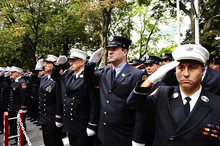 More than 8,000 FDNY members attended the FDNY�s 101st Memorial Day, honoring 15 active fire and EMS members who have died in the last year.
