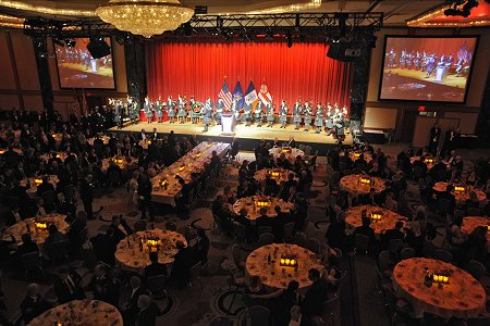 The FDNY Foundation raised close to $1 million during the annual Fire Commissioner's Humanitarian Awards.