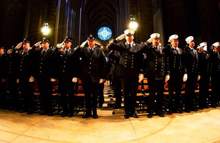 Thousands of members attended the 102nd annual FDNY Memorial Day ceremony at St. John the Devine Cathedral in Manhattan.