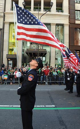 Members marched up Fifth Avenue from 44th Street to 86th Street in Manhattan.