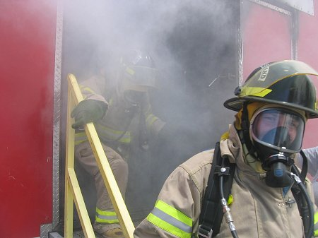 Students got a taste of what it was like to be a firefighter at the Phoenix Camp.
