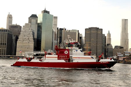 The new fireboat will replace the Firefighter, which is assigned to Marine 9 on Staten Island.