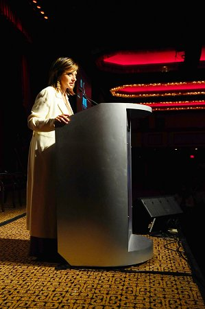 The FDNY Foundation Dinner Master of Ceremonies, Maria Bartiromo from CNBC.