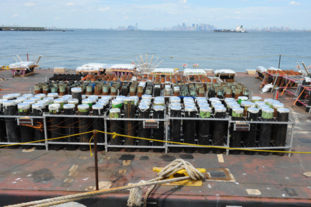 More than 32,000 lbs. of explosives were used in the show.