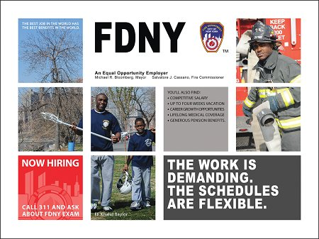 An ad featuring Firefighter Khalid Baylor.