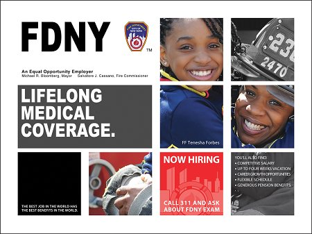 One of the ads featuring Firefighter Tenesha Forbes.