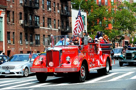 An apparatus, which was created to honor the lives of the 343 members of the FDNY killed on Sept. 11, 2001, led the Walk downtown.