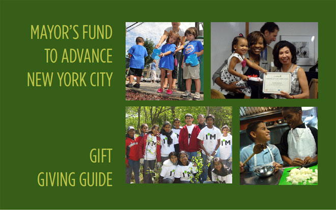 Mayor's Fund to Advance New York City - 2012 Gift Giving Guide