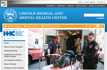 Lincoln Medical & Mental Health Center website home page