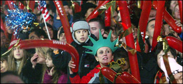 Time Square Crowd December 31, 2002