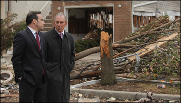 NYC Mayor Mike Bloomberg and Hurricane Sandy