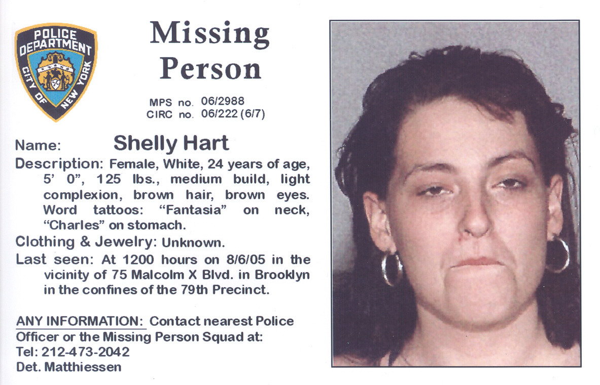Missing- Shelly Hart - Missing Aug 2005   New York Missing ...