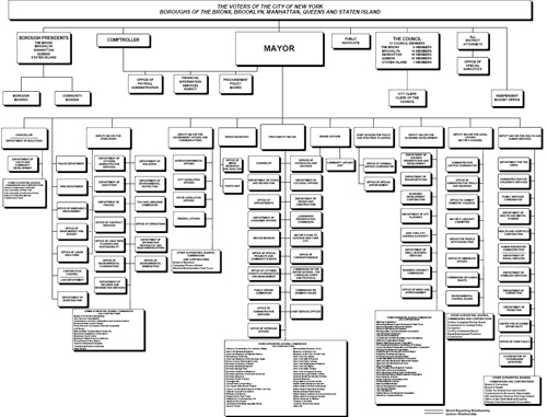 New York City Government Organizational Chart